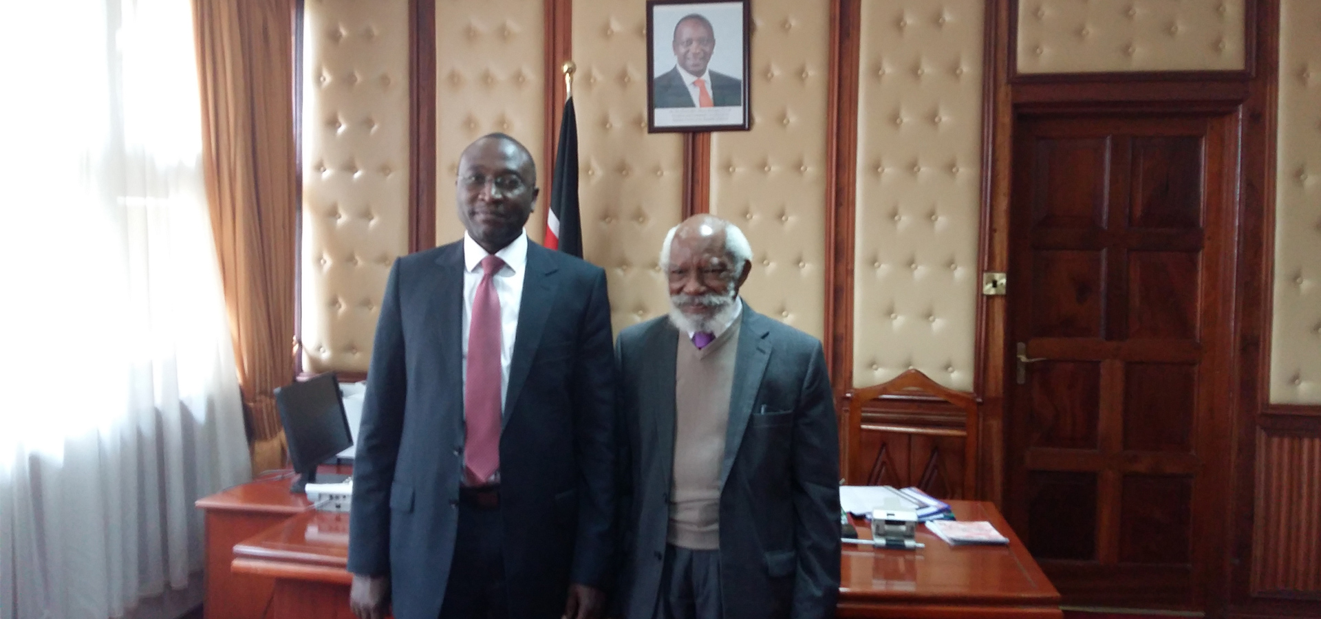 ILI-ACLE Faculty, Justice Crabbe with Clerk to Senate, Jeremiah Nyegenye